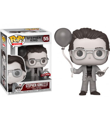 STEPHEN KING WITH RED BALLOON / STEPHEN KING / FIGURINE FUNKO POP / EXCLUSIVE SPECIAL EDITION