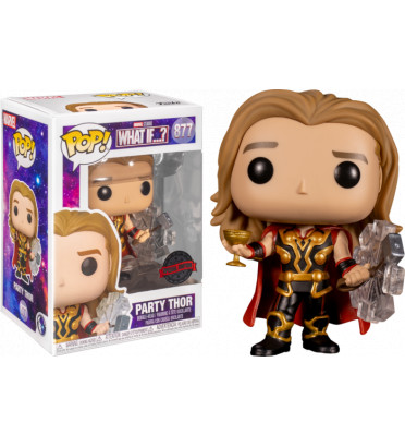 PARTY THOR / MARVEL WHAT IF / FIGURINE FUNKO POP / EXCLUSIVE SPECIAL EDITION