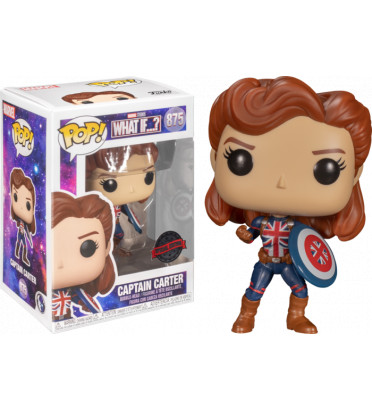 CAPTAIN CARTER POSE / MARVEL WHAT IF / FIGURINE FUNKO POP / EXCLUSIVE SPECIAL EDITION