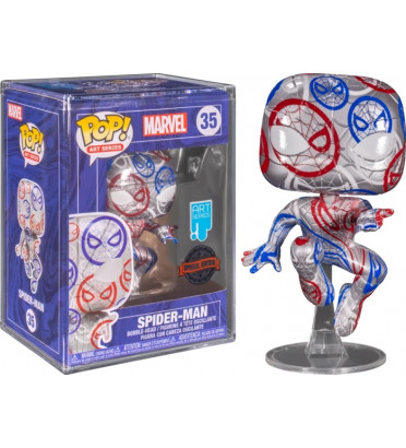PATRIOTIC AGE SPIDER MAN WITH CASE PROTECTOR / MARVEL AVENGERS / FIGURINE FUNKO POP / EXCLUSIVE SPECIAL EDITION