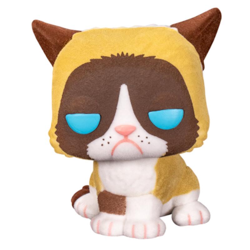 GRUMPY CAT / GRUMPY CAT / FIGURINE FUNKO POP / EXCLUSIVE SPECIAL EDITION / FLOCKED