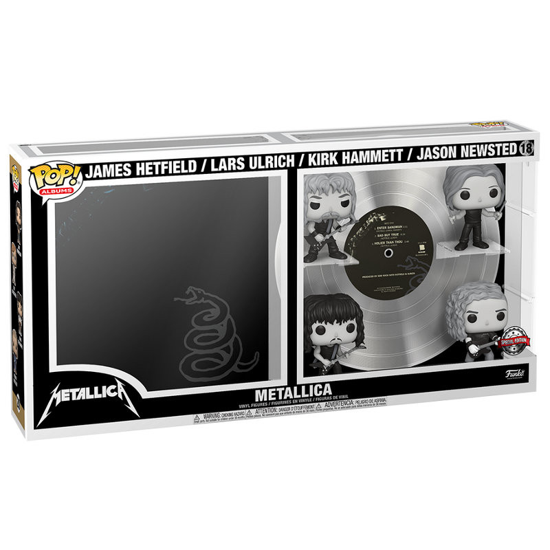 ALBUM METALLICA NOIR ET BLANC / METALLICA / FIGURINE FUNKO POP / EXCLUSIVE SPECIAL EDITION