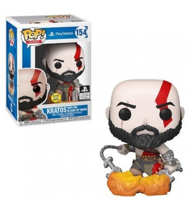 KRATOS WITH BLADES OF CHAOS / GOD OF WAR / FIGURINE FUNKO POP / EXCLUSIVE SPECIAL EDITION
