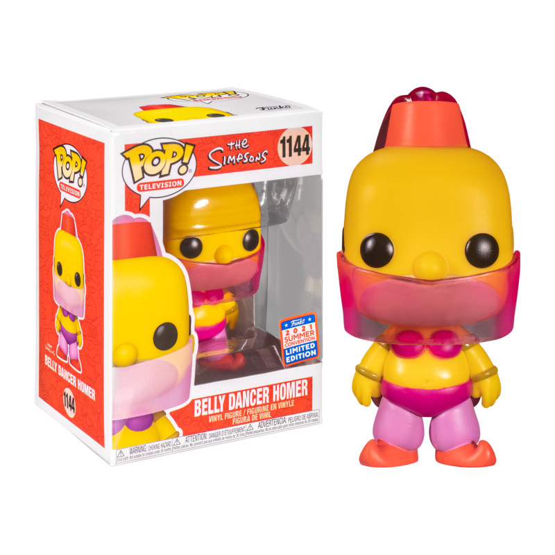 BELLY DANCER HOMER / THE SIMPSONS / FIGURINE FUNKO POP / EXCLUSIVE SDCC 2021