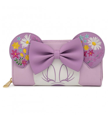 PORTEFEUILLE MINNIE HOLDING FLOWERS / MICKEY MOUSE / LOUNGEFLY