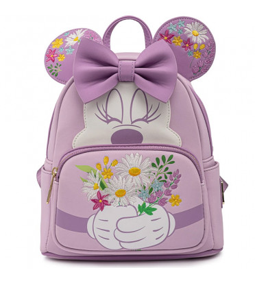MINI SAC A DOS MINNIE HOLDING FLOWERS / MICKEY MOUSE / LOUNGEFLY