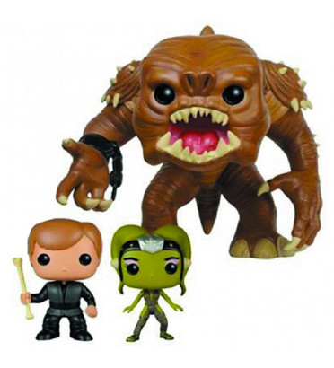 3-PACK RANCOR AVEC LUKE SKYWALKER ET SLAVE OOLA / STAR WARS / FIGURINE FUNKO POP/ UNDERGROUND TOYS EXCLUSIVE