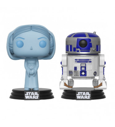 2-PACK LEIA ET R2-D2 / STAR WARS / FIGURINE FUNKO POP / SDCC 2017 EXCLUSIVE
