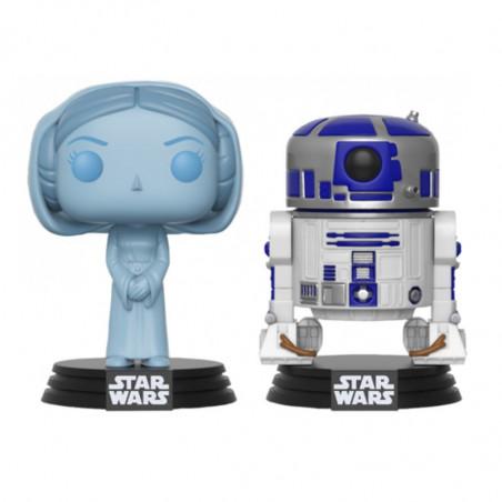 2-PACK LEIA ET R2-D2 / STAR WARS / FIGURINE FUNKO POP / SDCC 2017 EXCLUSIVE