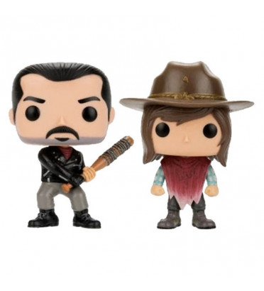 2-PACK NEGAN ET CARL GRIMES / THE WALKING DEAD / FIGURINE FUNKO POP / EXCLUSIVE