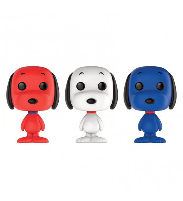 3-PACK SNOOPY BLEU BLANC ROUGE / SNOOPY / FIGURINE FUNKO POP