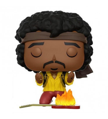 JIMI HENDRIX GUITARE ENFLAMÉE / PURPLE HAZE PROPERTIES / FIGURINE FUNKO POP / EXCLUSIVE