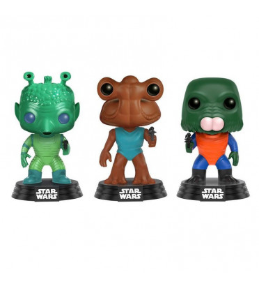 3-PACK GREEDO, HAMMERHEAD, WALRUS MAN / STAR WARS / FIGURINE FUNKO POP / EXCLUSIVE