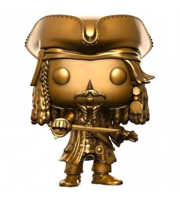 JACK SPARROW GOLD / PIRATES DES CARAÏBES / FIGURINE FUNKO POP / EXCLUSIVE
