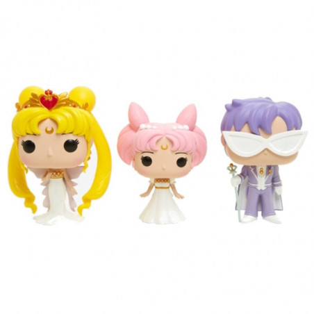 3-PACK NEO QUEEN SERENITY ET SMALL LADY ET KING ENDYMION / SAILOR MOON / FIGURINE FUNKO POP / EXCLUSIVE