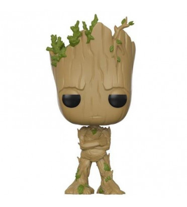 GROOT TEENAGE / LES GARDIENS DE LA GALAXIE / FIGURINE FUNKO POP / BOITE ABIMÉE / EXCLUSIVE
