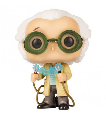 DR EMMET BROWN AVEC FOUDRE / RETOUR VERS LE FUTUR / FIGURINE FUNKO POP / EXCLUSIVE LOOTCRATE