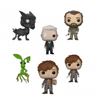 PACK 5 FIGURINES + CHASE / LES ANIMAUX FANTASTIQUES 2 / FIGURINE FUNKO POP
