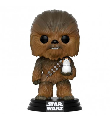 CHEWBACCA WITH PORG / STAR WARS / FIGURINE FUNKO POP