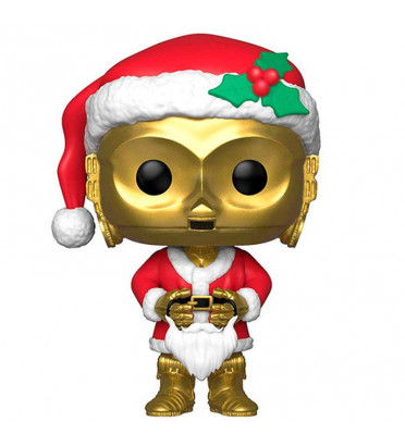HOLIDAY C-3PO / STAR WARS / FIGURINE FUNKO POP