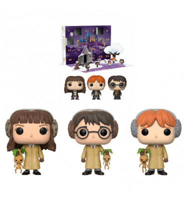 CALENDRIER DE L'AVENT AVEC 3 POP HERBOLOGY / HARRY POTTER / FIGURINE FUNKO POP