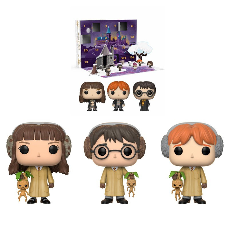 Calendrier De Lavent Harry Potter Funko Pop.Calendrier De L Avent Avec 3 Pop Herbology Harry Potter Figurine Funko Pop