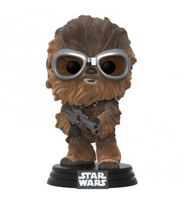 CHEWBACCA AVEC LUNETTE / STAR WARS / FIGURINE FUNKO POP / EXCLUSIVE / FLOCKED