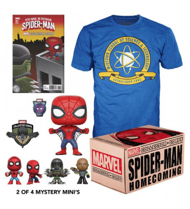 MARVEL COFFRET COLLECTOR / SPIDER-MAN HOMECOMING / FIGURINE FUNKO POP