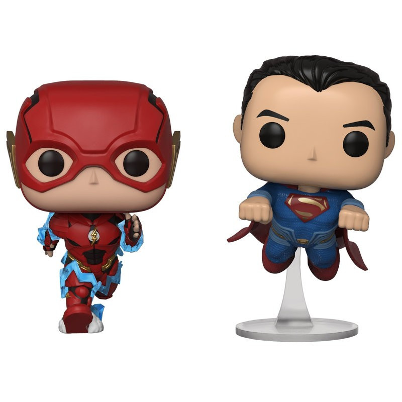 2 PACK THE FLASH ET SUPERMAN / JUSTICE LEAGUE / FIGURINE FUNKO POP / EXCLUSIVE NYCC 2018
