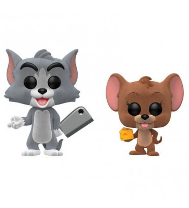 2 PACK TOM ET JERRY / TOM ET JERRY / FIGURINE FUNKO POP / EXCLUSIVE FUNKO SHOP / FLOCKED