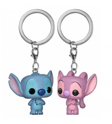 2 PACK STITCH ET ANGEL / LILO ET STITCH / FUNKO POCKET POP