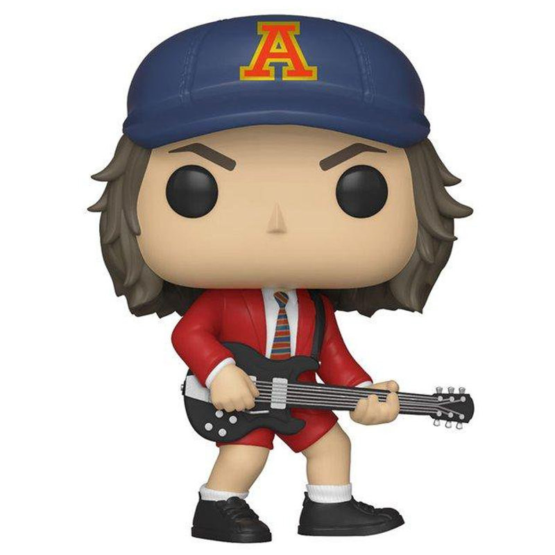 ANGUS YOUNG VESTE ROUGE / ACDC / FIGURINE FUNKO POP / EXCLUSIVE SPECIAL EDITION