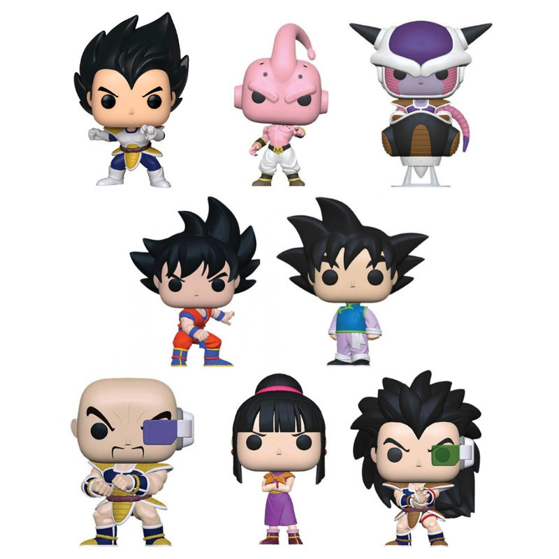 PACK DE 8 DRAGON BALL Z / DRAGON BALL Z / FIGURINE FUNKO POP