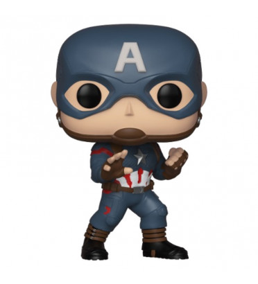 CAPTAIN AMERICA COSTUME BLEU / AVENGERS ENDGAME / FIGURINE FUNKO POP / EXCLUSIVE SPECIAL EDITION