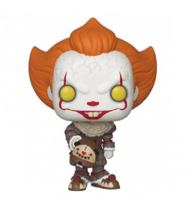 PENNYWISE AVEC BEAVER HAT / IT / FIGURINE FUNKO POP / EXCLUSIVE SPECIAL EDITION