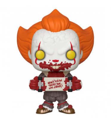 PENNYWISE AVEC SKATEBOARD / IT / FIGURINE FUNKO POP / EXCLUSIVE SPECIAL EDITION