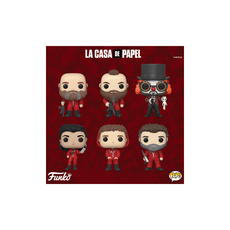 PACK DE 6 FIGURINES / LA CASA DE PAPEL / FIGURINE FUNKO POP