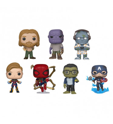 PACK DE 7 FIGURINES / AVENGERS ENDGAME / FIGURINE FUNKO POP