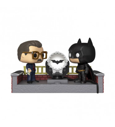 BATMAN WITH LIGHT UP BAT SIGNAL / BATMAN MOVIES MOMENT / FIGURINE FUNKO POP