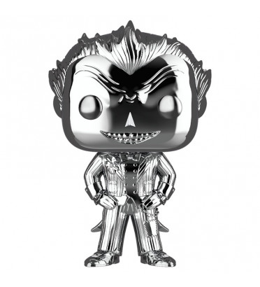 THE JOKER CHROME / BATMAN ARKHAM ASYLUM / FIGURINE FUNKO POP