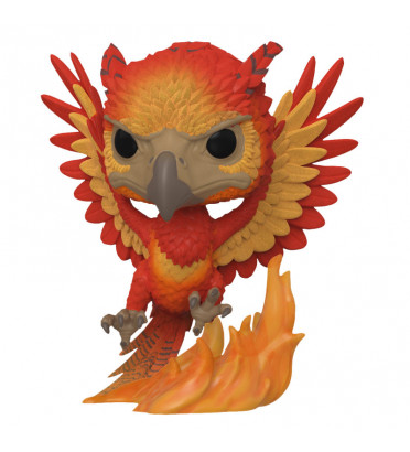 FAWKES FLOCKED / HARRY POTTER / FIGURINE FUNKO POP / EXCLUSIVE SDCC 2019
