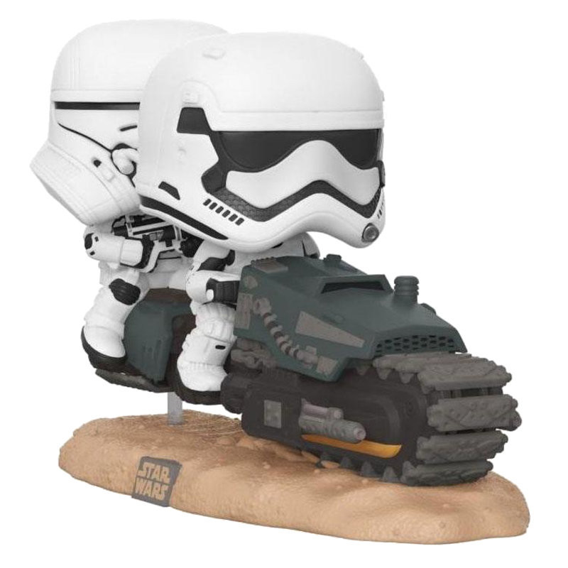 FIRST ORDER TREAD SPEEDER / STAR WARS MOVIE MOMENTS / FIGURINE FUNKO POP