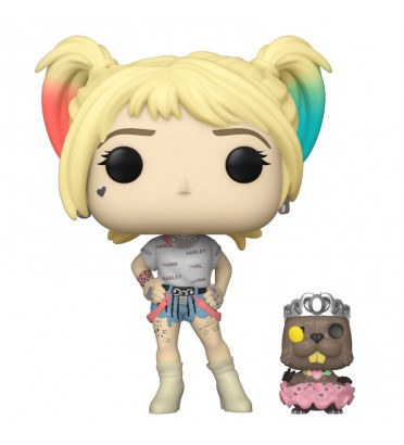 HARLEY QUINN AVEC BEAVER / BIRDS OF PREY / FIGURINE FUNKO POP