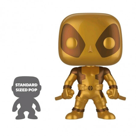 DEADPOOL SUPER OVERSIZED GOLD / DEADPOOL / FIGURINE FUNKO POP / EXCLUSIVE SPECIAL EDITION