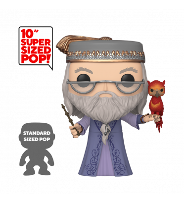 ALBUS DUMBLEDORE AVEC FAWKES SUPER OVERSIZED / HARRY POTTER / FIGURINE FUNKO POP