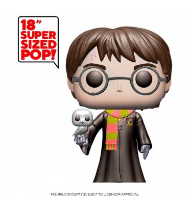HARRY POTTER AVEC HEDWIG SUPER OVERSIZED / HARRY POTTER / FIGURINE FUNKO POP