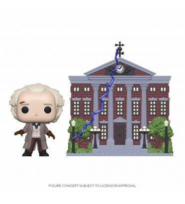 DOC EMMET BROWN AVEC CLOAK TOWER / RETOUR VERS LE FUTUR / FIGURINE FUNKO POP