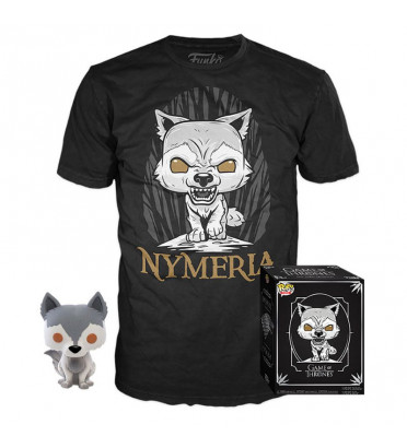 T-SHIRT S AVEC POP NYMERIA / GAME OF THRONES / FIGURINE FUNKO POP