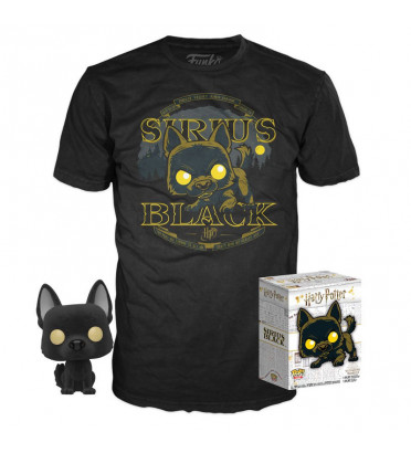 T-SHIRT S + POP SIRIUS BLACK CHIEN / HARRY POTTER / FIGURINE FUNKO POP
