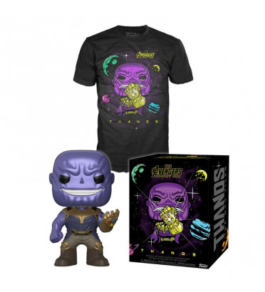 T-SHORT THANOS L + POP / AVENGERS INFINITY WAR / FIGURINE FUNKO POP